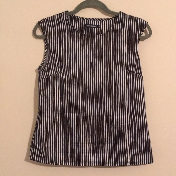 44b224f3 Marimekko Tops | Black And White Striped Top | Poshmark